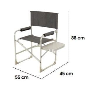 Cadeira Diretor Iris Preta C/ Mesa