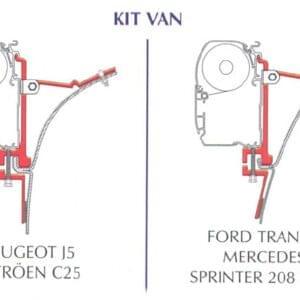 Kit Fixação para Toldo F45