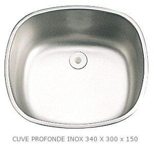 Lava-Loiça Inox 340x300mm