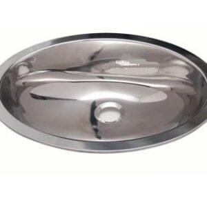 Lava-Loiça Oval Inox 390x510mm