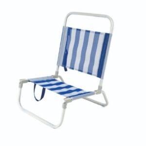 Cadeira de Praia Azul e Branca